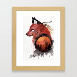 Tetrad the Bloodmoon Fox Framed Art Print
