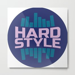 Hardstyle Equalizer | Electro Techno Party Metal Print