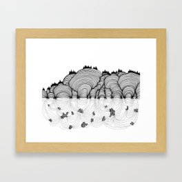 Beneath the Hills Framed Art Print