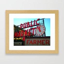 Pike Place Framed Art Print