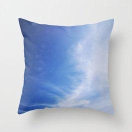 Azure Sky Throw Pillow