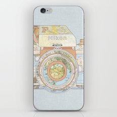 TRAVEL NIK0N iPhone Skin