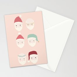 Santas - Blush Stationery Cards