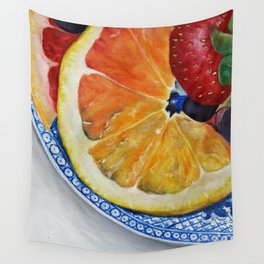Fruit Plate I Wall Tapestry