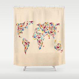 map dinosaur Shower Curtain