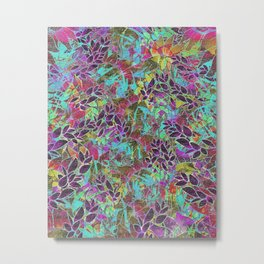 Grunge Art Floral Abstract G124 Metal Print