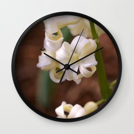 Golden Hyacinth Wall Clock