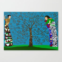 Klimt Style Tree of Life Canvas Print