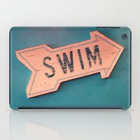 swim iPad Cases featuring swim by Sylvia Cook Photography
