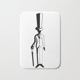 Man with a top hat Bath Mat