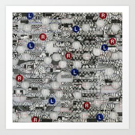 Do The Hokey Pokey (P/D3 Glitch Collage Studies) Art Print