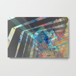 Abstract Constructed Experiment Metal Print