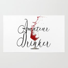 Amateur Drinker Visual Inspiration For Home Decor And Apparels by OLena Art Rug