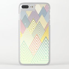 Pastel Mountains Clear iPhone Case