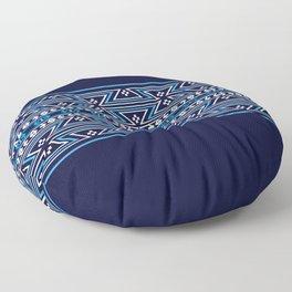 Native American Traditional Ethnic Tribal Geometric Navajo Motif Pattern Floor Pillow
