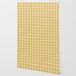 Fall 2016 Designer Color Mustard Yellow Tartan Plaid Check Wallpaper