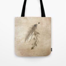 Bohemian Feather Tote Bag
