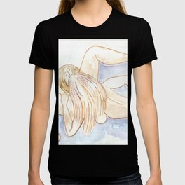 LESBIAN LOVERS ART cunnilingus sex positive lgbt female sexuality explicit mature adult content sexy erotica pussy licking lgbtqia stickykitties T-shirt