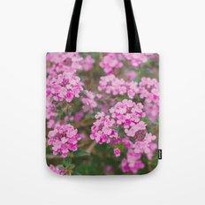 Purple Flowers in the Field Tote Bag
