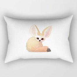 cute fennec foxes. Vector graphic character Rectangular Pillow