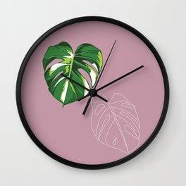 house monstera #4 Wall Clock