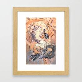 Hanami cat Framed Art Print