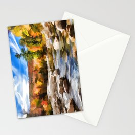 Saco River Painting Stationery Cards