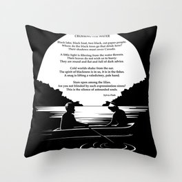 Crossing the Water (poem) by Sylvia Plath Throw Pillow