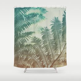 Colorful Fern Shower Curtain