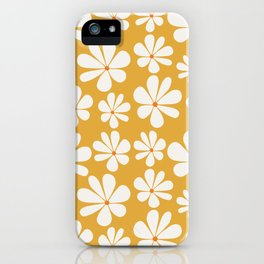 Floral Daisy Pattern - Golden Yellow iPhone Case