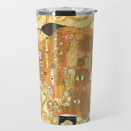 Lovers by Gustav Klimt 1909 // Cartoons for the Execution of a Frieze for the Dining Room of Stoclet Travel Mug