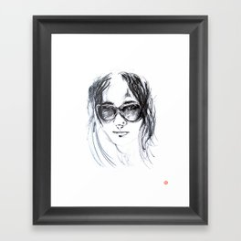 Sunglasses Girl Framed Art Print