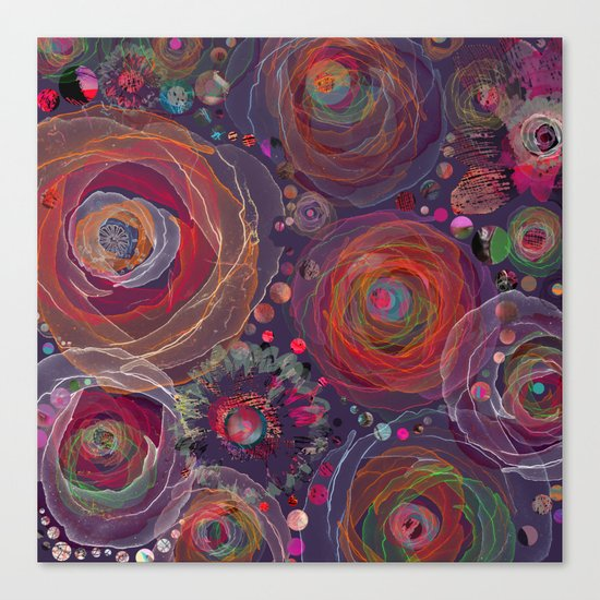 Floral abstract(53). Canvas Print
