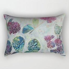 Butterflies and Blooms Rectangular Pillow