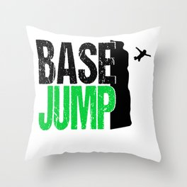 Base Jumping Parachute Extremely Wingsuit Base Throw Pillow