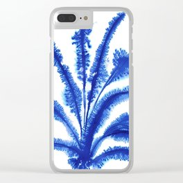 Blue growth Clear iPhone Case