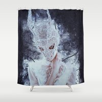 nightmare Shower Curtains featuring Nightmare by Kryseis Retouche