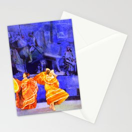 Watercolor painting of festival in downtown Guadalajara, Mexico Stationery Cards