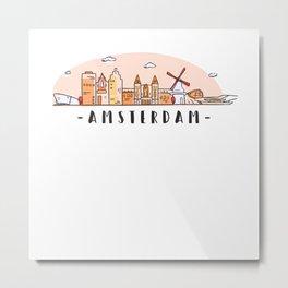 Amsterdam Skyline Metal Print