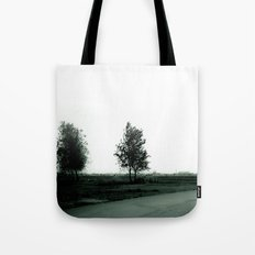 Blurry Trees Tote Bag