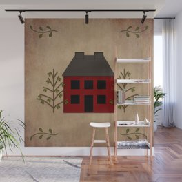 Primitive Country House Wall Mural