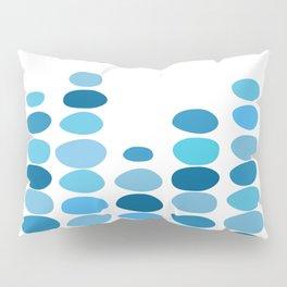 Shades of Blue Raindrops Pillow Sham