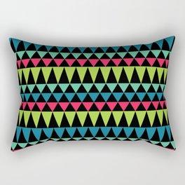 Neon Southwestern Pattern Rectangular Pillow