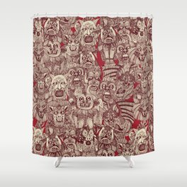 gargoyles red Shower Curtain
