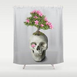 Bonsai Skull Shower Curtain