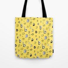 Letter Patterns, Part D Tote Bag