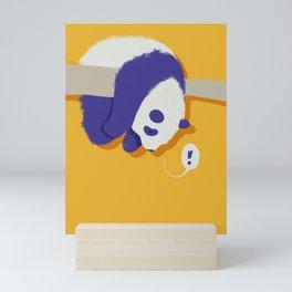 Stuck Panda Mini Art Print