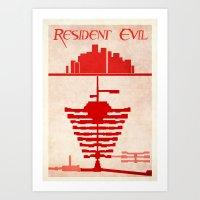 resident evil Art Prints featuring Resident Evil by JackEmmett