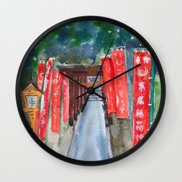 Shinto shrine entrance Wall Clock