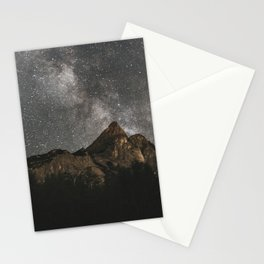 Milky Way Over Mountains - Landscape Photography Stationery Cards
